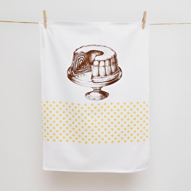 TEA TOWEL BROWN POTICA