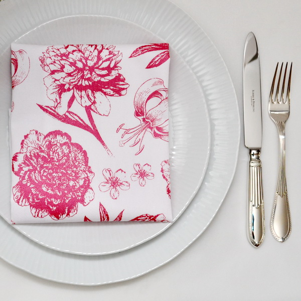 FLOWERS NAPKINS SET