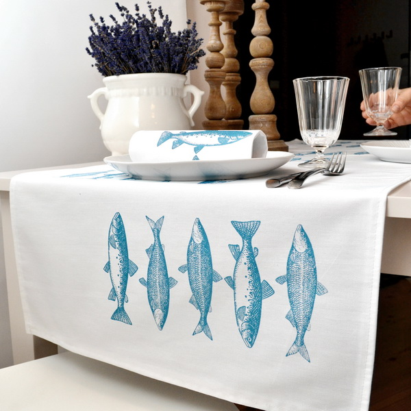 FISH TABLE RUNNER