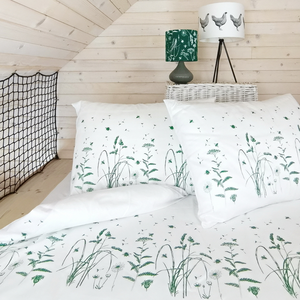 BED LINEN GREEN MEADOW
