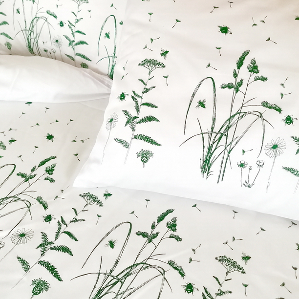 BED LINEN GREEN MEADOW