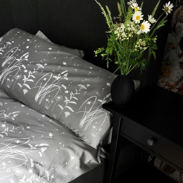 BED LINEN GRAY MEADOW