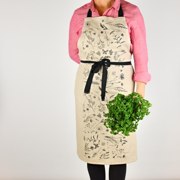MEADOW LINEN APRON